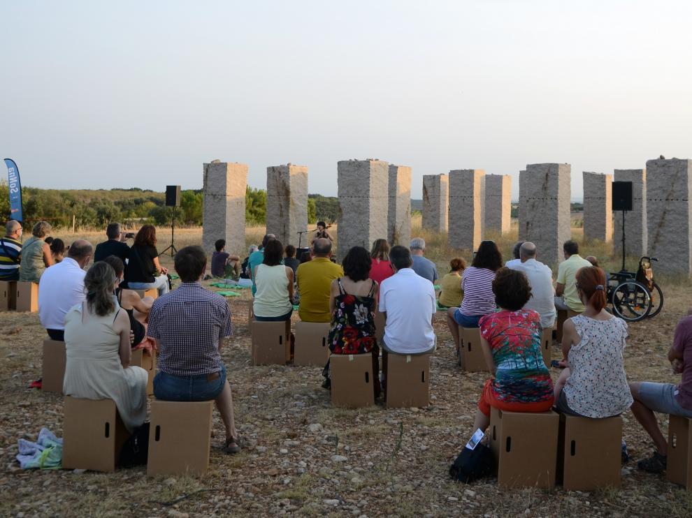 El público disfrutó de la actuación de Ana Carla Maza en el SoNna Huesca.