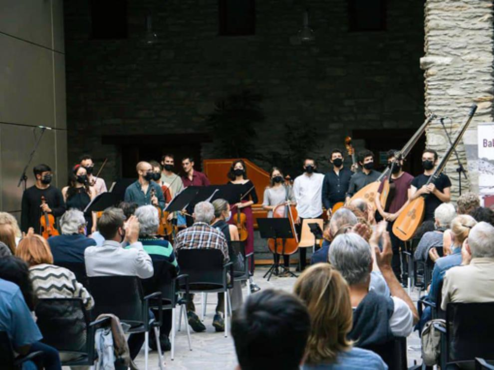 Concierto celebrado en el Palacio Condes de Ribagorza.