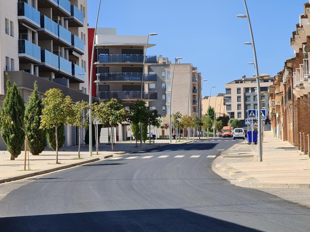 Finalización de las obras en la calle Benito Coll de Binéfar