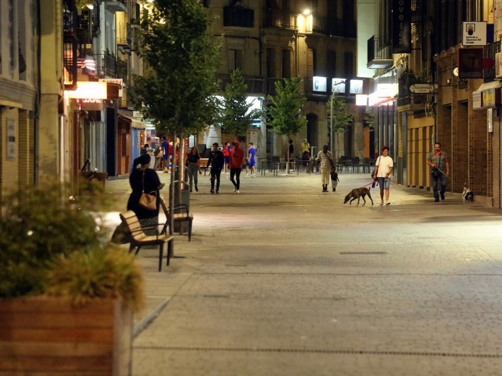 Las últimas horas con el toque de queda han sido muy tranquilas en Huesca.