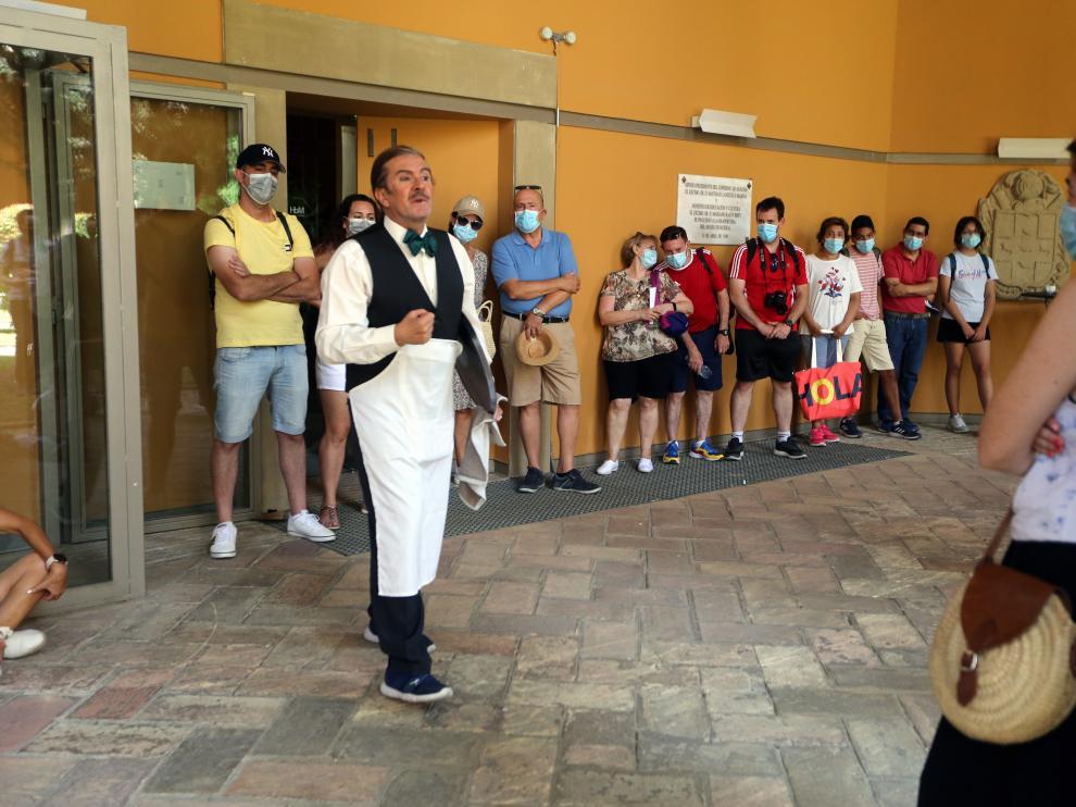 Turistas en el Museo Provincial durante una visita muy original y divertida.   Museo provincial    foto pablo segura    12 - 8 - 21
