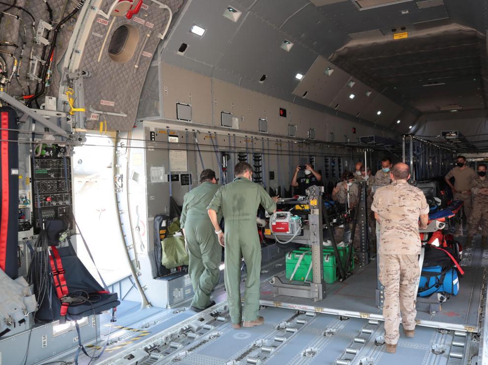 España ya ha enviado un tercer avión para las evacuaciones.
