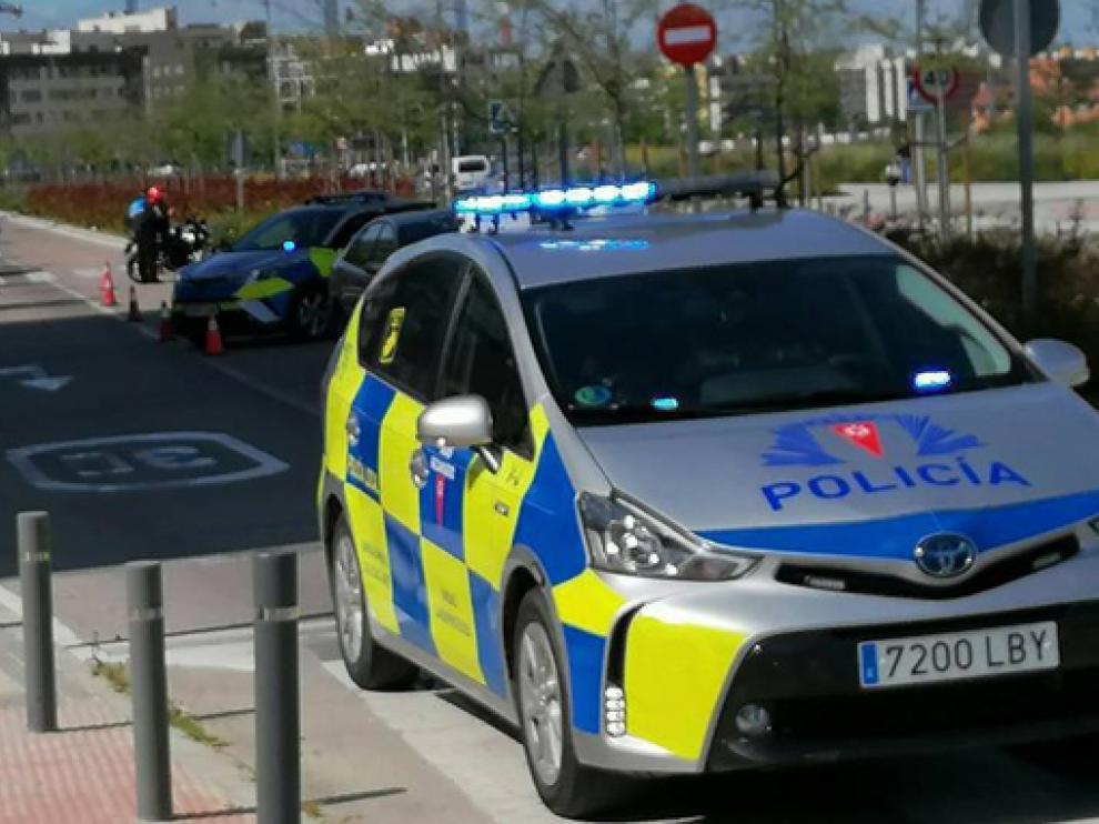 Coche patrulla de la Policía de Rivas