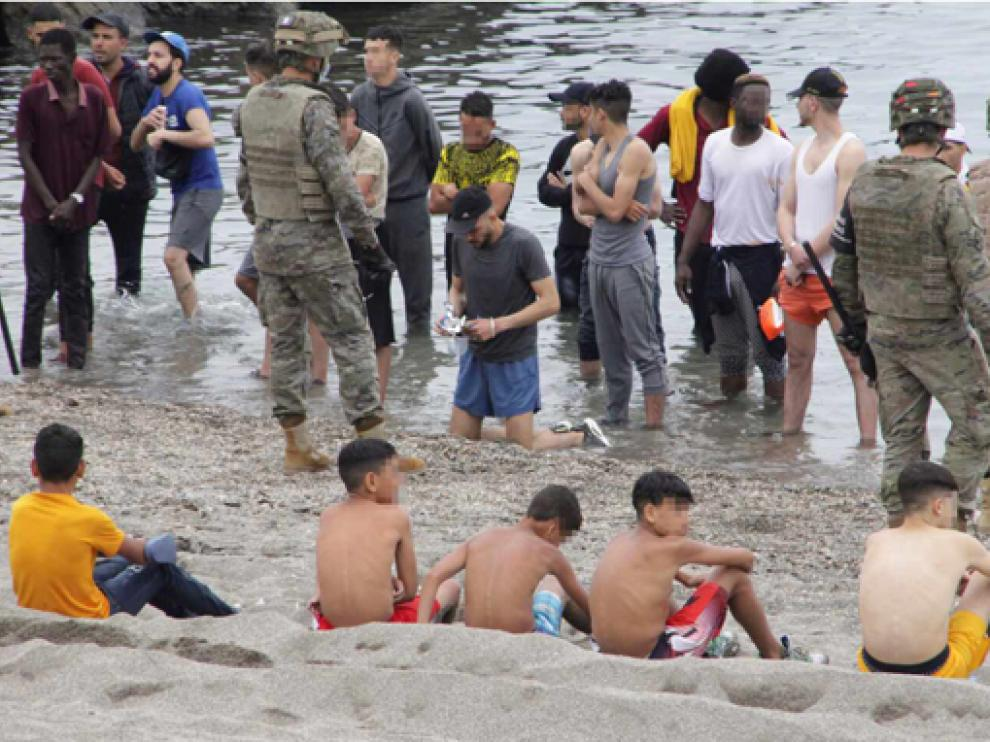 Menores llegados a Ceuta