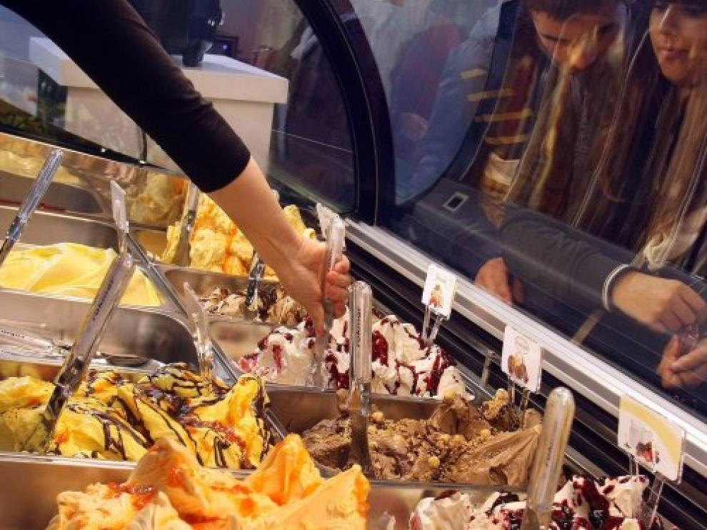 Mostrador de helados