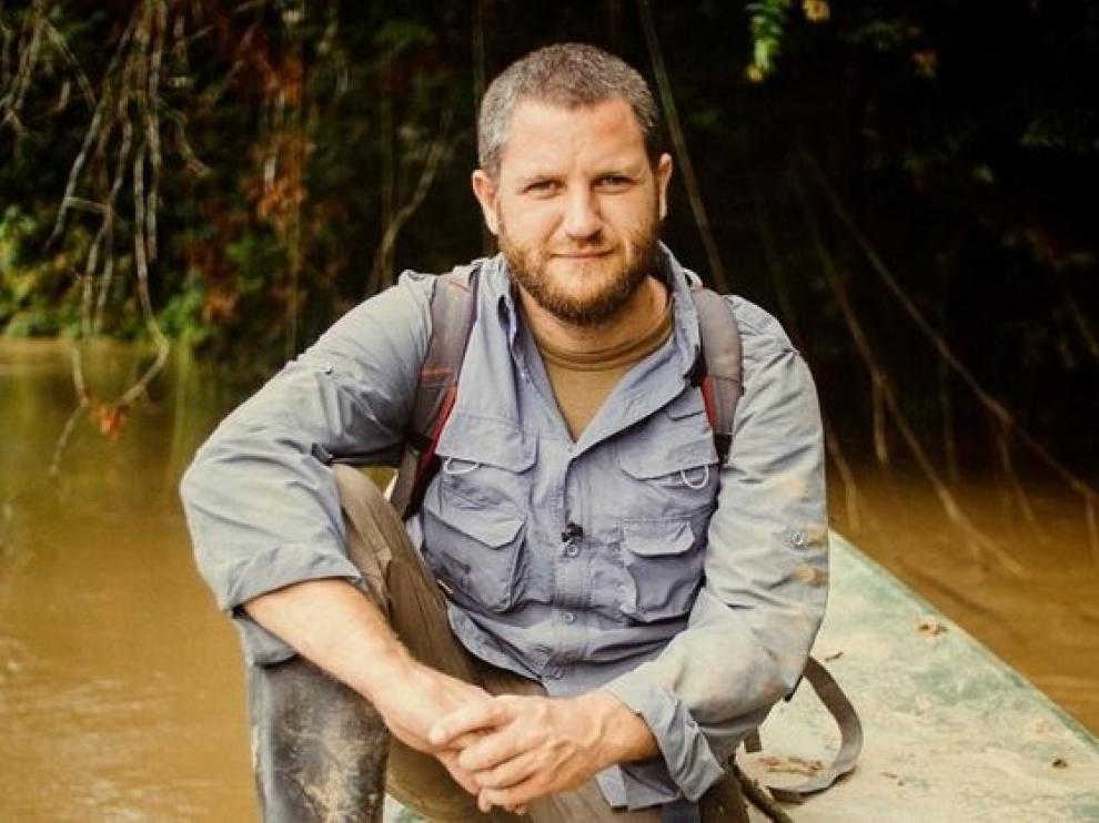 El reportero David Beriáin en una imagen de Clandestino.