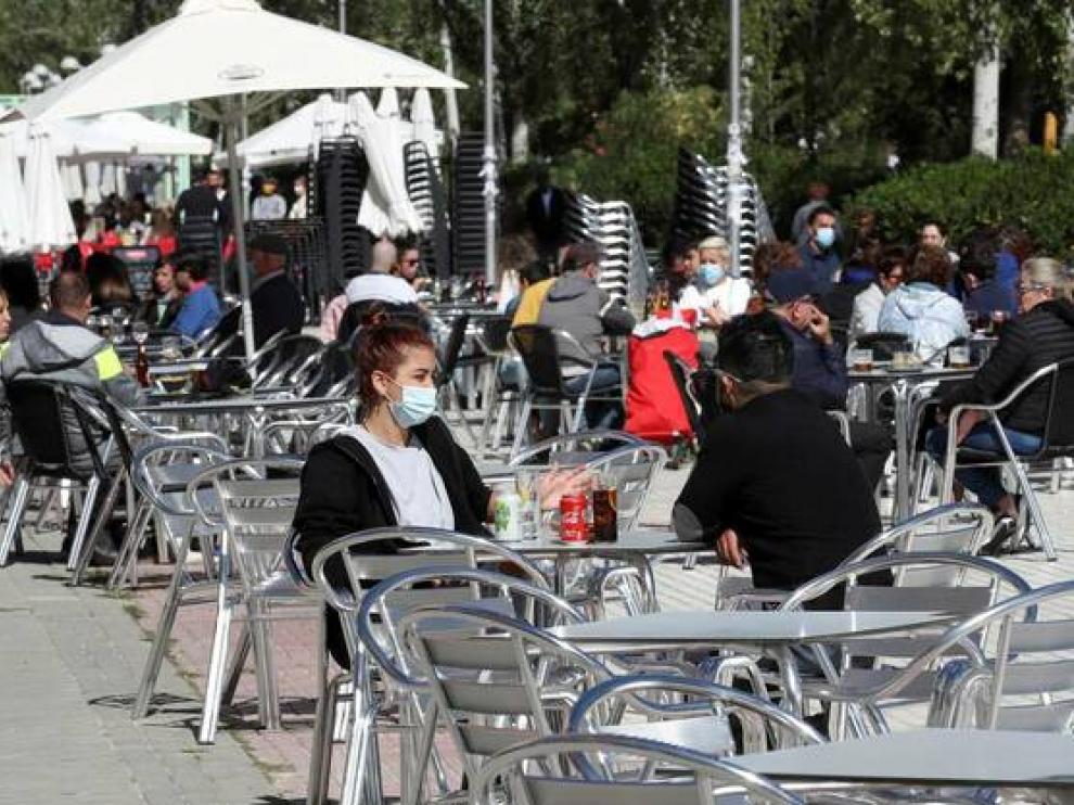 Ambiente en terrazas en Madrid