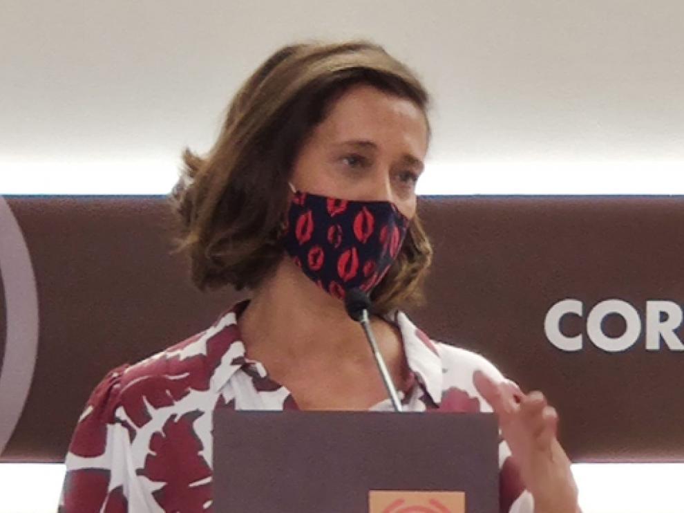 La diputada del PP Marian Orós, ayer.