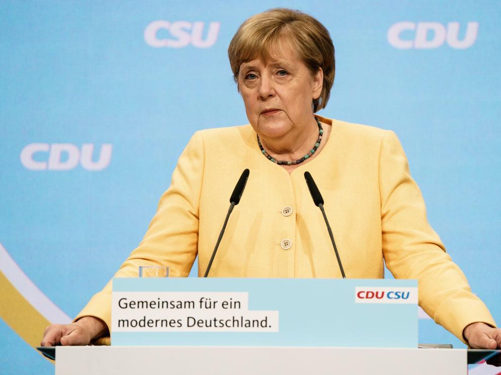 Merkel durante un acto