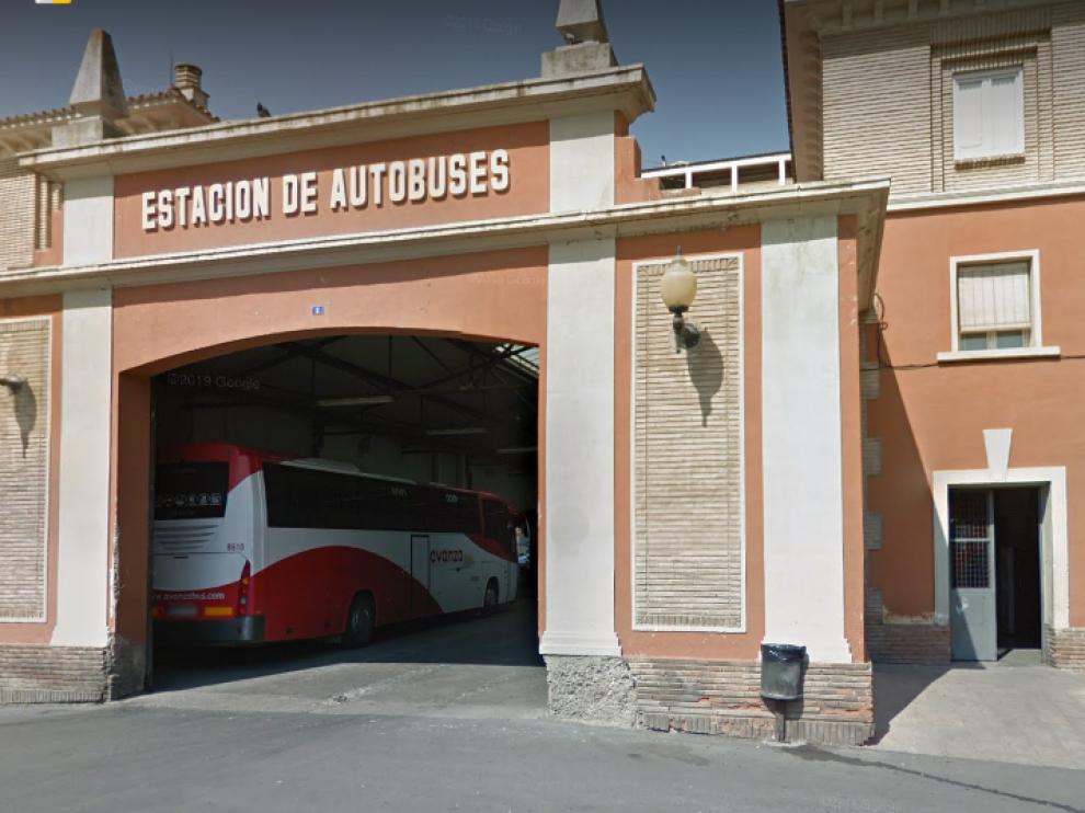 Estación de autobuses de Barbastro, donde se realizará la recogida de alimentos