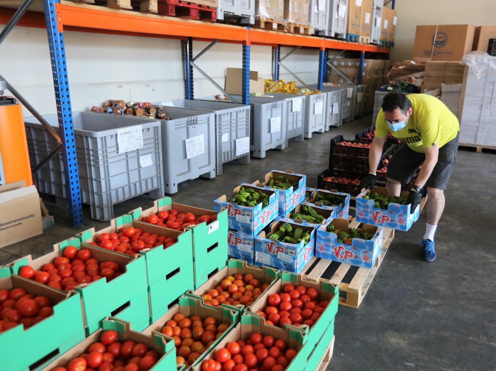 Donaciones recibidas en el Banco de Alimentos de Huesca