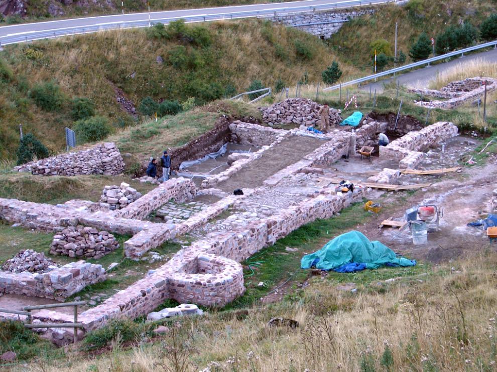 Parte meridional del yacimiento del Hospital de Santa Cristina, en el municipio de Aísa