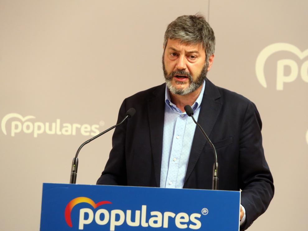 Gerardo Oliván, presidente provincial del Partido Popular.