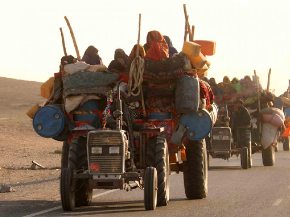 La población afgana continúa huyendo de sus hogares