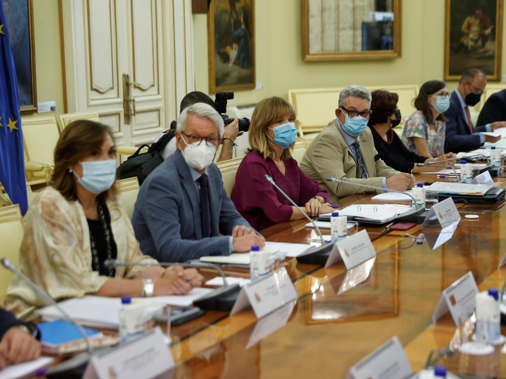 Pilar Alegría ha presidido la reunión de la Conferencia Sectorial de Educación.
