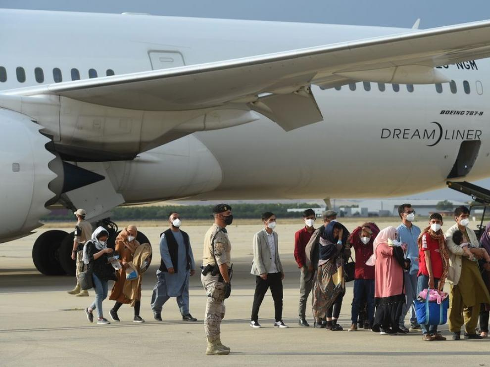 Este lunes llegaron a la base aérea de Torrejón de Ardoz 260 personas procedentes de Afganistán