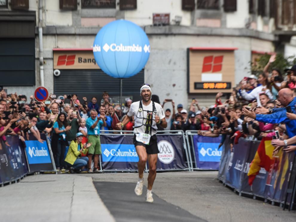 Hernando, camino de meta en su victoria de 2019.