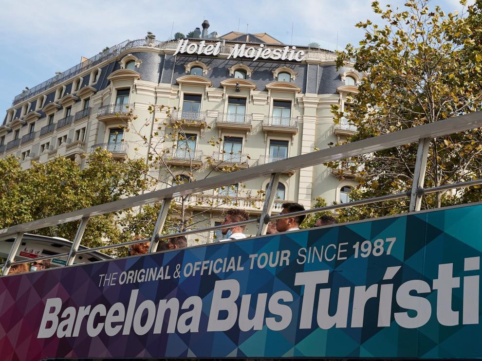 Turismo en Barcelona en el mes de agosto.