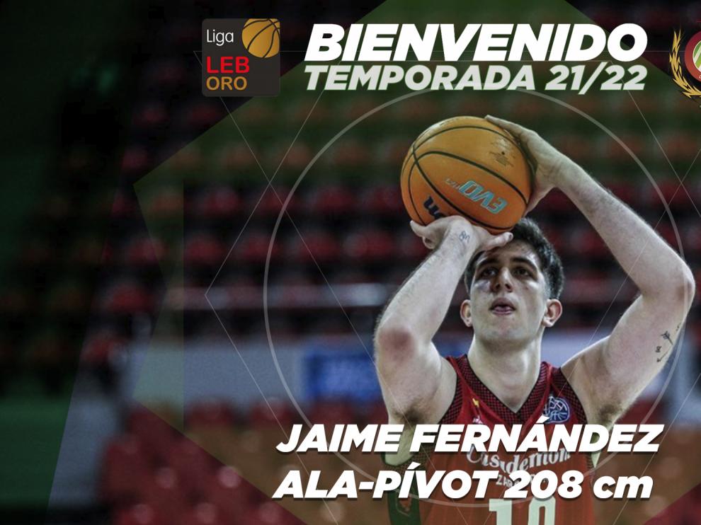 Jaime Fernández, nuevo jugador del Levitec Huesca.