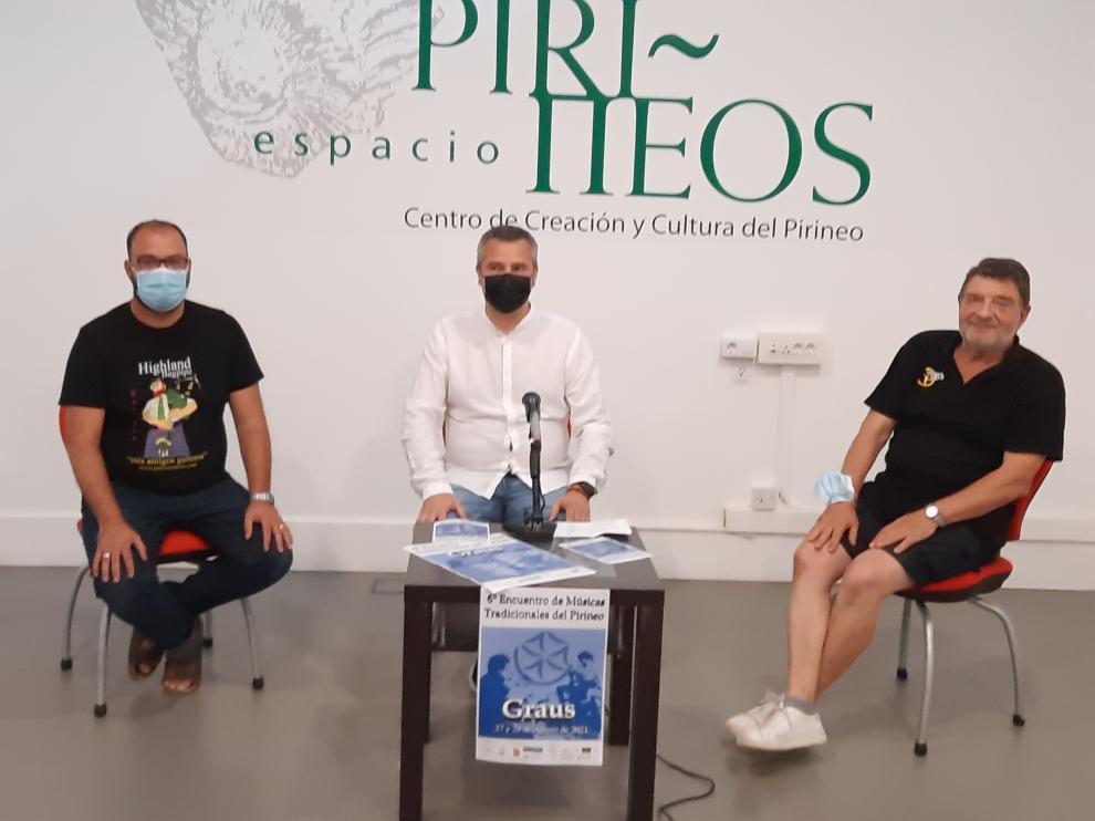 De izquierda a derecha, Sergi Llena, Julián del Castillo y José Ramón Colomina.