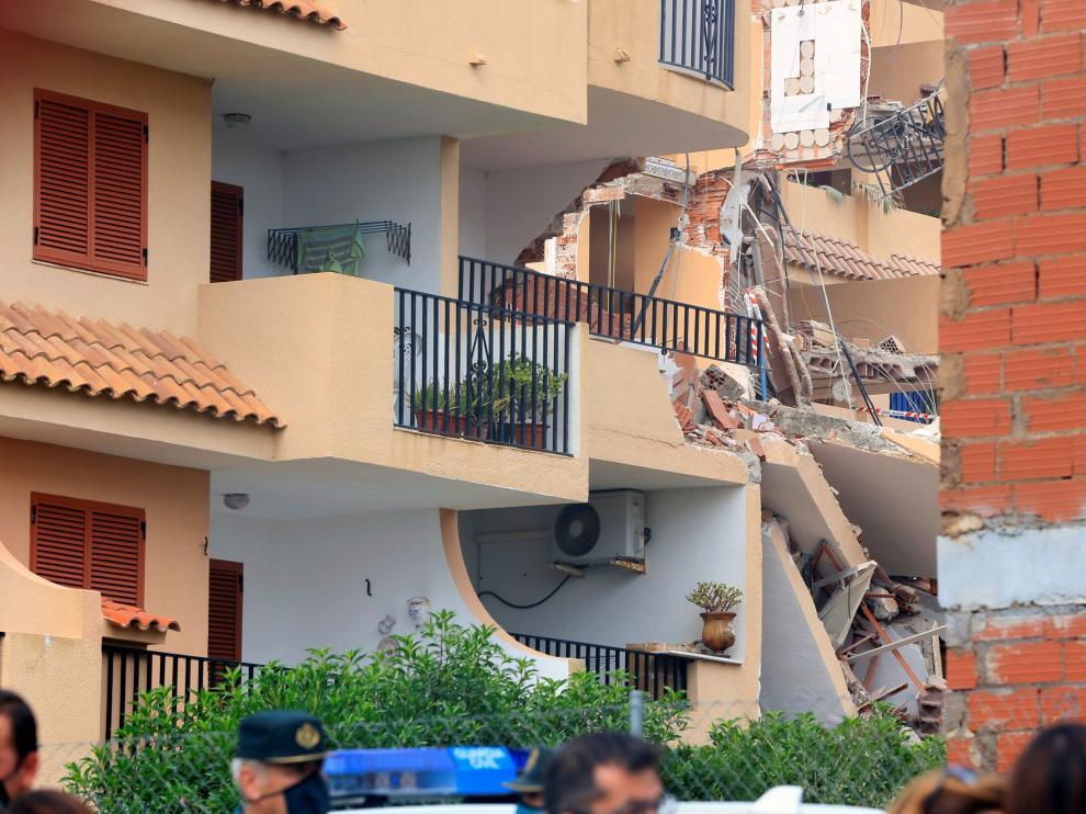 Edificio derrumbado en Peñícola