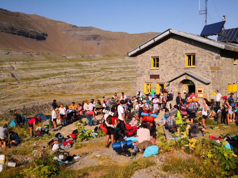 El refugio de Góriz, en la mañana del pasado lunes.