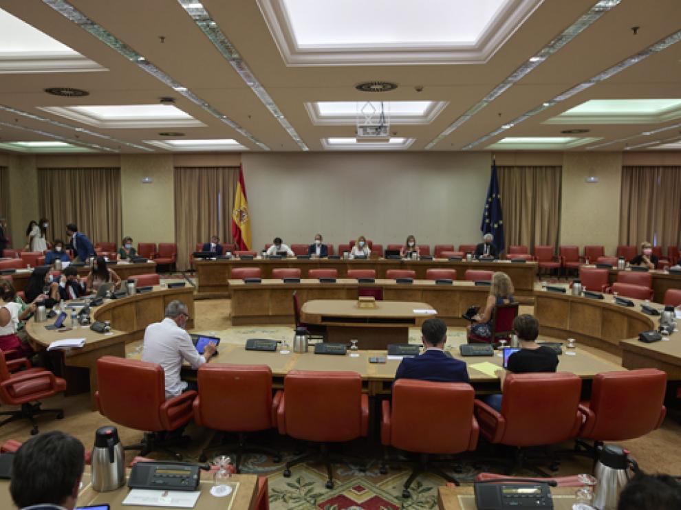 Vsita general de la reunión de ayer de la Diputación Permanente del Congreso