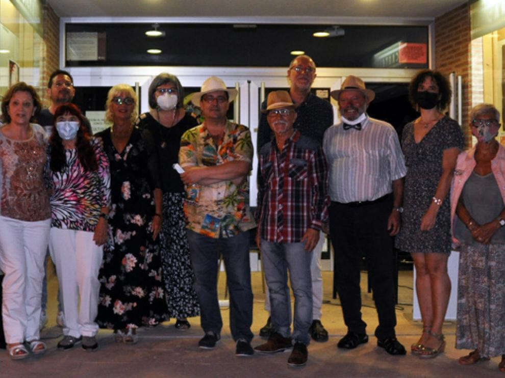 En la imagen, algunos de los participantes en la sesión celebrada en Sariñena.