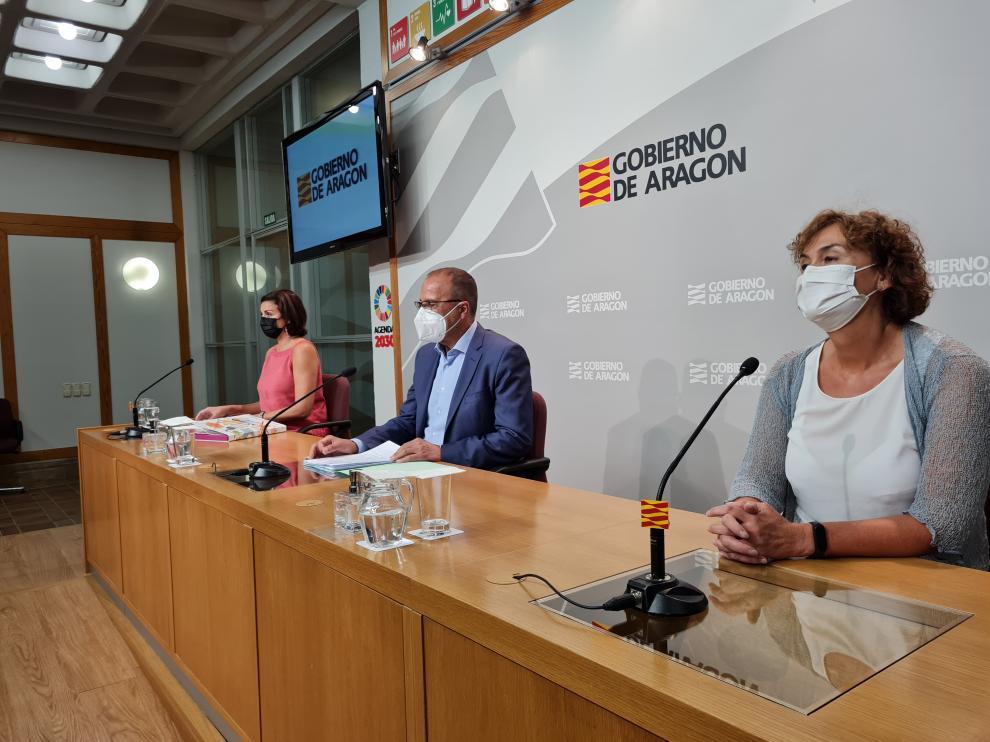 El Consejero de Eduación, Felipe Faci, en la rueda de prensa previa al curso escolar 2021/2022