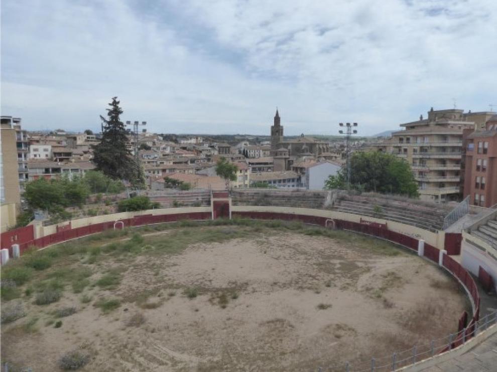 Graderío antiguo de la plaza de toros de Barbastro