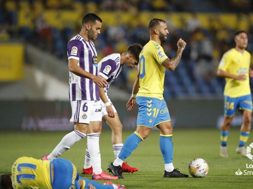 Jesé Rodríguez marcó ante el Valladolid el primer gol de Las Palmas esta temporada.