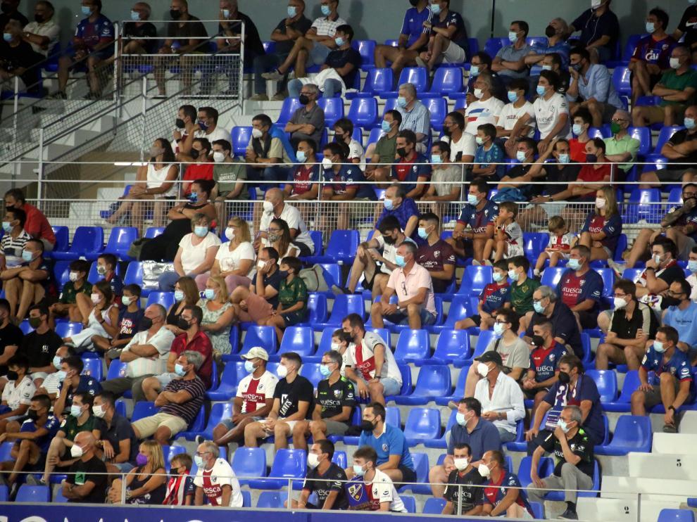El Alcoraz ha contado con público en los dos últimos partidos del Huesca.
