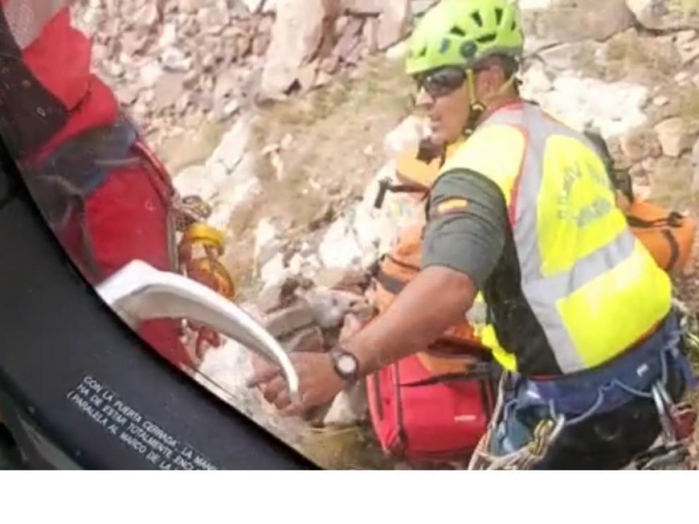 Rescate del montañero fallecido en Sallent