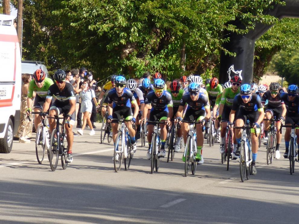 Un momento de la carrera celebrada este domingo en Barbastro