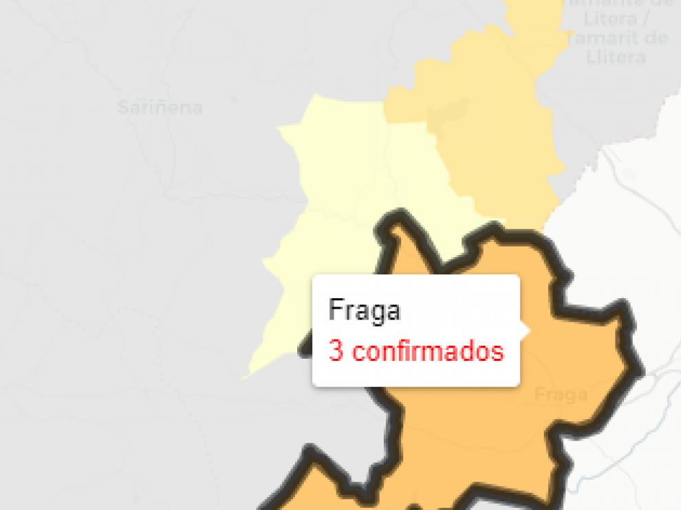 Fraga es la zona básica de salud que registra hoy más casos.