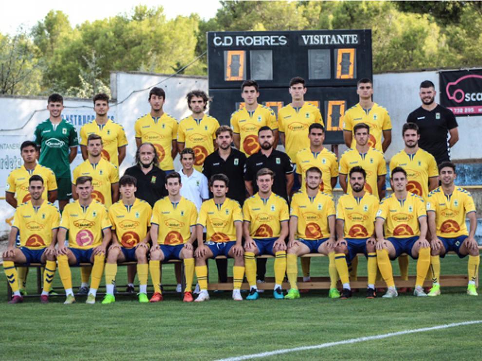 La plantilla del Club Deportivo Robres para la temporada 2021/2022.