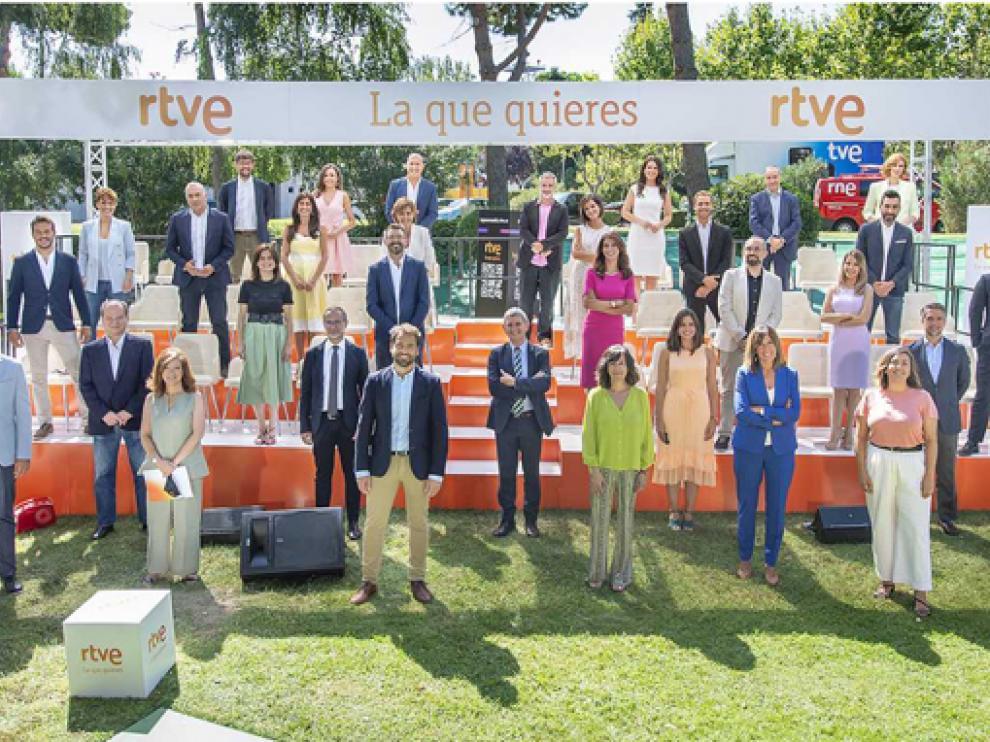 Presentación de los Informativos de RTVE en Prado del Rey.
