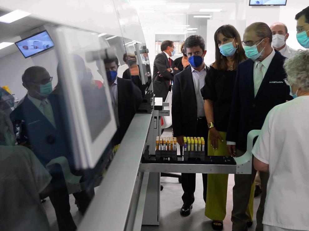 El Presidente de Aragón ha visitado el Hospital General Universitario San Jorge.