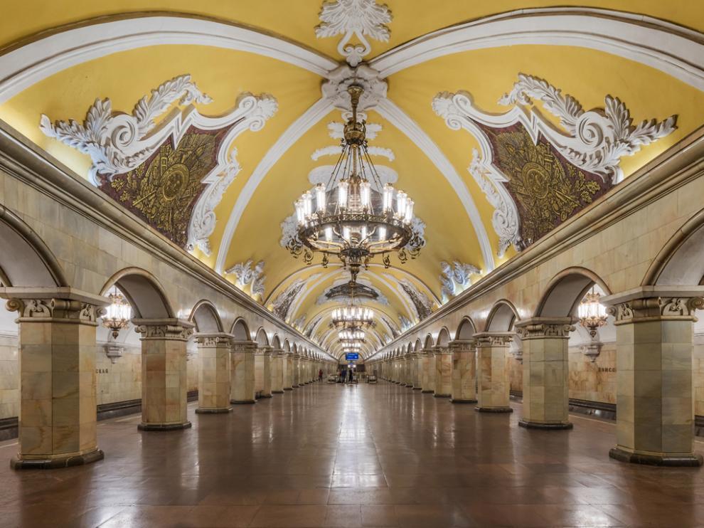 Estación de metro Komsomolskaya  en Moscú
