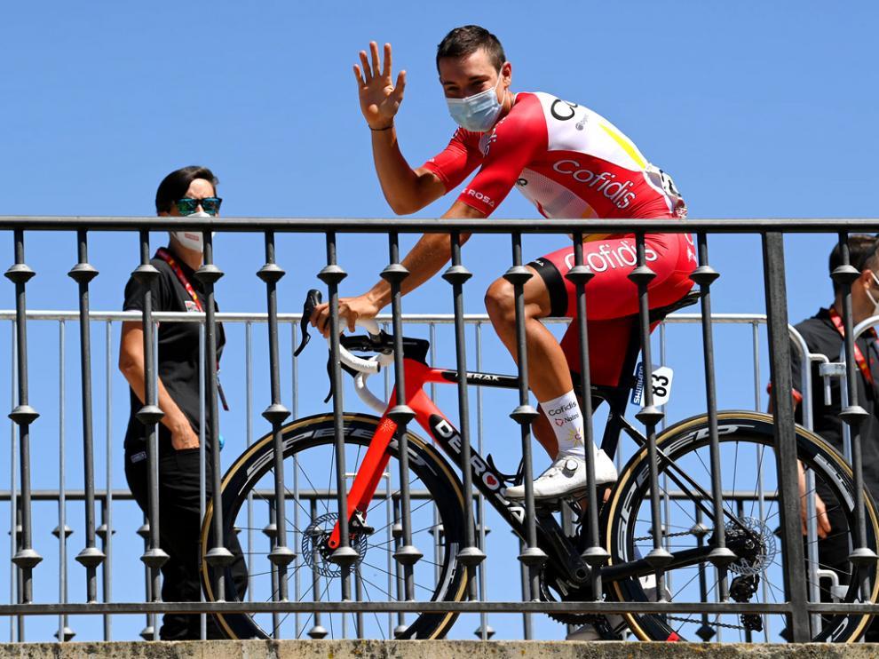 Fernando Barceló, antes de la salida de una etapa en esta Vuelta a España