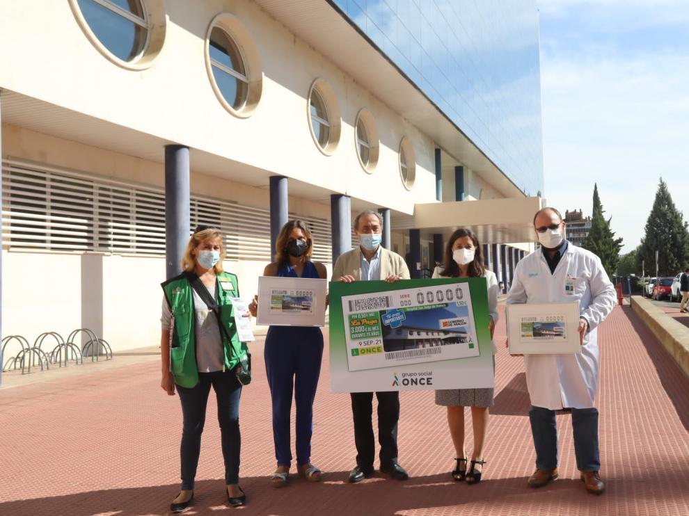 La Once ha presentado este jueves el cupón dedicado al Hospital Universitario San Jorge.