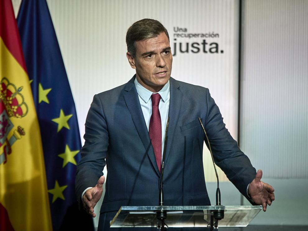 Pedro Sánchez, en su intervención para abrir el nuevo curso político