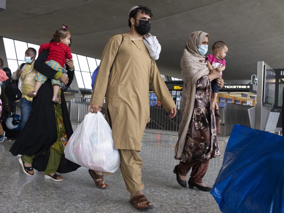 Personas evacuadas de Afganistán