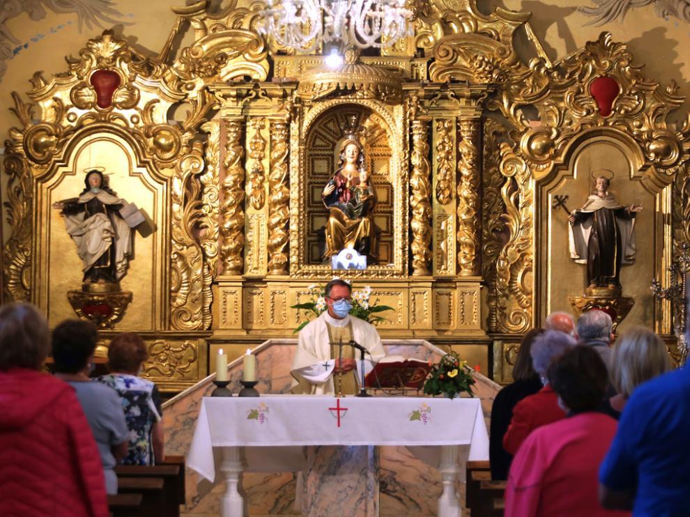 Celebración de la Eucaristía San Juan Bautista en el Santuario de Cillas en junio de este año