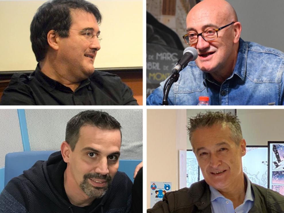 Daniel Viñuales, Antonio Altarriba, José Antonio Bernal y Juanfer Briones