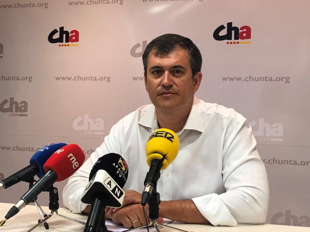 Joaquín Palacín, en la rueda de prensa este viernes.