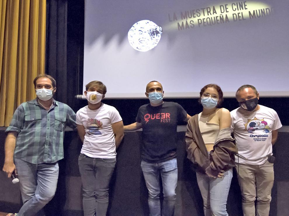 Participantes en el coloquio posterior de la película 'Petite fille'