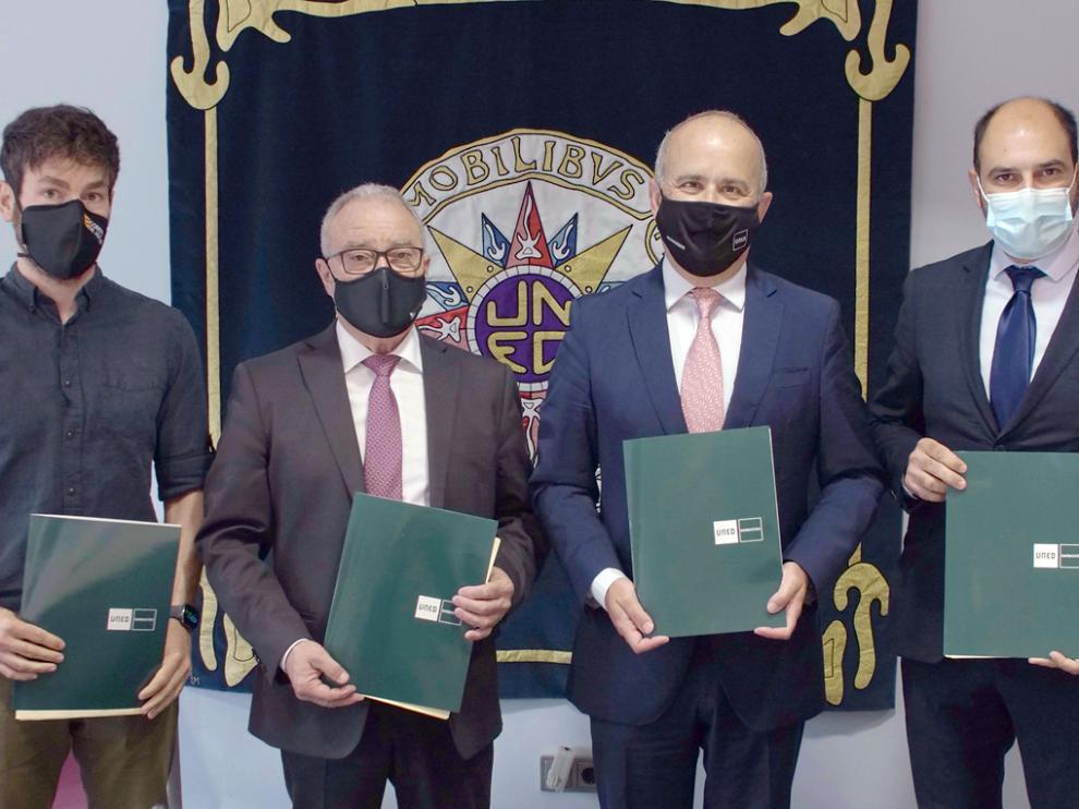 Ramón Guirado, Miguel Gracia, Ricardo Mairal y Fernando Torres, en la constitución del consorcio