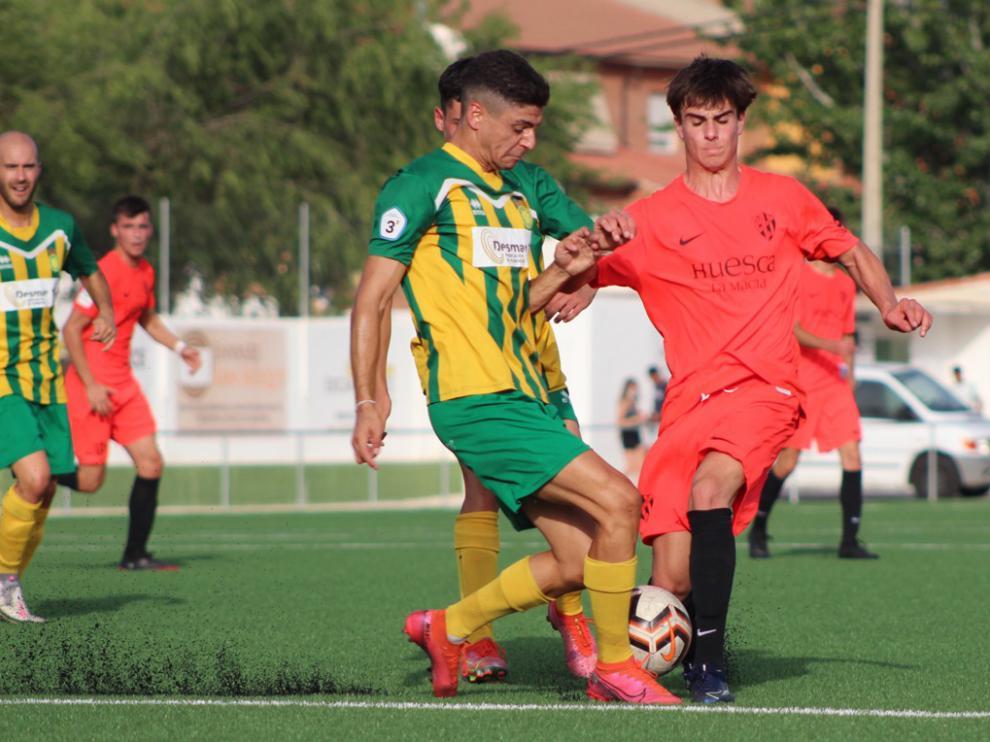 Imagen de un encuentro amistoso jugador por el juvenil del Huesca