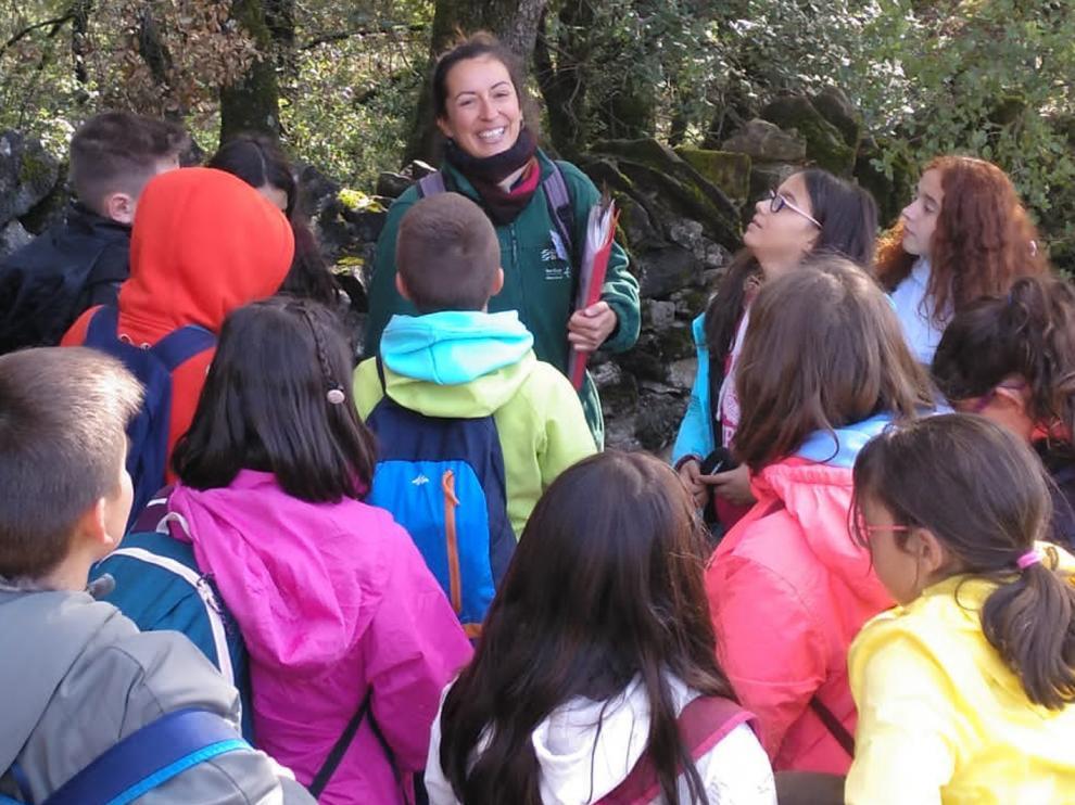 Actividad de educación ambiental en la Sierra de Guara